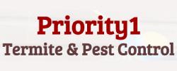 Priority 1 Termite & Pest Control Logo