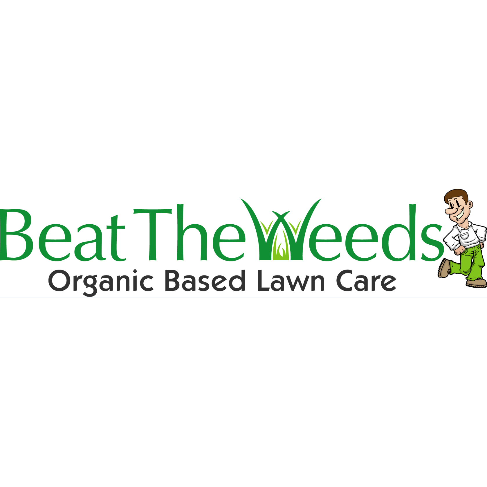 Beat The Weeds Organic Based Lawn Care Logo
