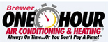 Brewer One Hour Air Conditioning & Heating Logo