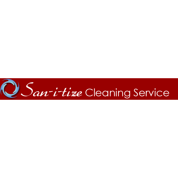 San-i-tize Cleaning Service Logo