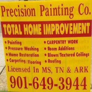 Precision Painting Company Logo