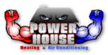 Powerhouse Heating and Air Conditioning (HVAC) Logo