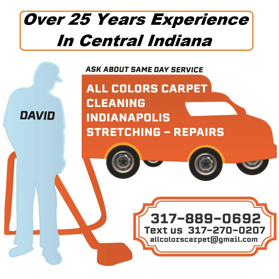 All Colors Carpet Cleaning Indianapolis Stretching-Repairs Logo