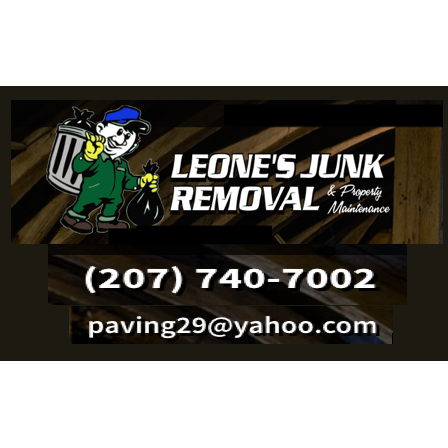 Leone's Junk Removal & Property Maintenance Logo
