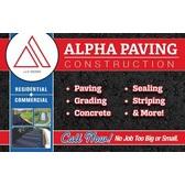 Alpha Paving Construction Logo