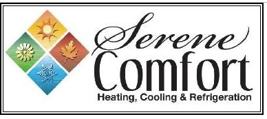 Serene Comfort Heating, Cooling & Refrigeration Logo