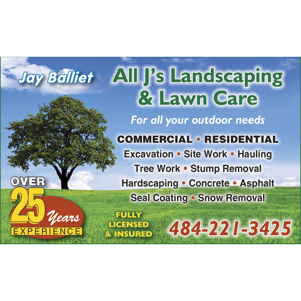 All J's Landscaping & Lawn Care Logo
