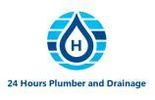 24 Hours Plumber and Drainage Service Logo
