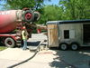 Pump and truck stay in street